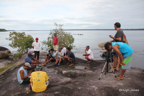 Sítio Temendawi, médio Rio Negro, um dos lugares sagrados visitados pela expedição.