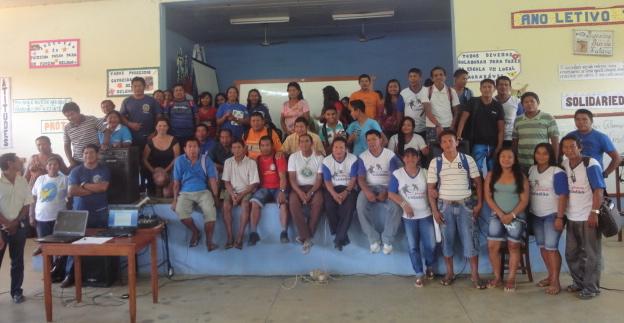 Participantes dp Seminário de Educação Escolar Indígena em Iauaretê- Waupés.