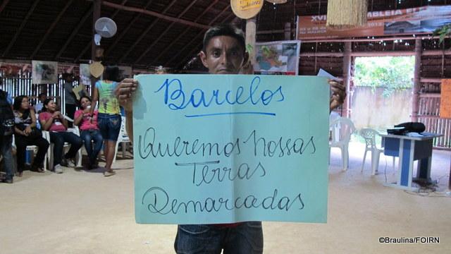 Jovem do município de Barcelos durante a Assembléia Geral do Departamento de Jovens e Adolescentes em São Gabriel da Cachoeira, em 2013.