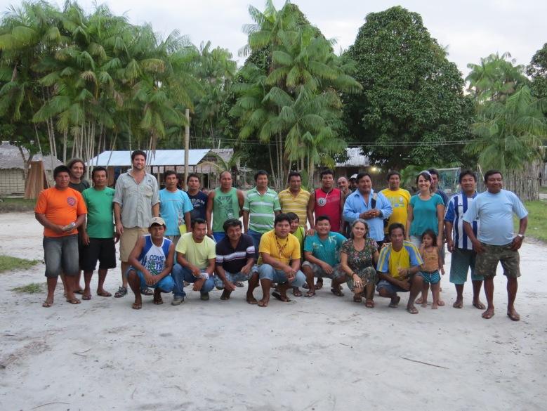 capitães das comunidades da ACIBRN e parceiros em Tapuruquara Mirim - Michele xxxxx