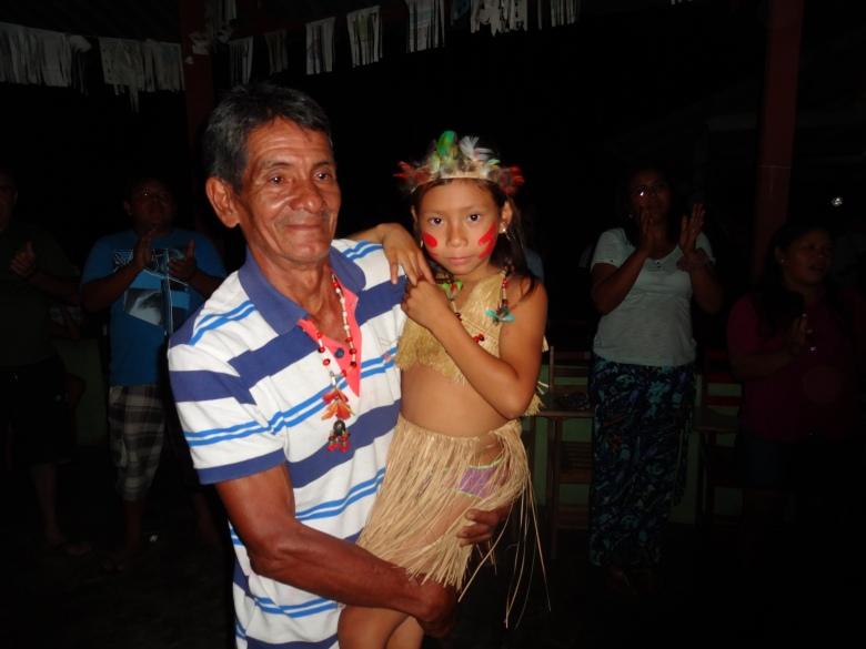 Braz de Oliveira França foi um dos homenageados em Acariquara. O líder Baré teve atuação e participou no processo de criação da ACIMRN na época em que passou na diretoria da FOIRN. Foto: SETCOM/FOIRN
