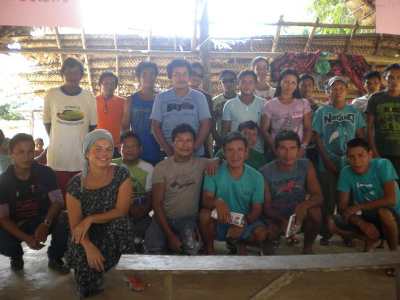 Participantes do Seminário em Barreira Alto, rio Tiquié.