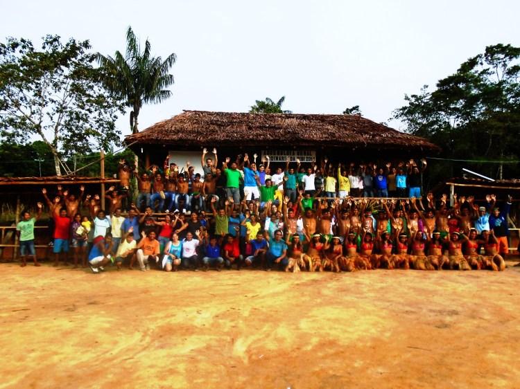 Participantes da Assembleia Geral da OIBI realizada na escola Pamaali - Médio Içana. Foto: André Baniwa