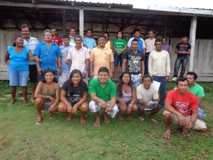 Participantes da Assembleia da ACIBRN em São Pedro, Baixo Rio Negro. FOTO: SETCOM/FOIRN