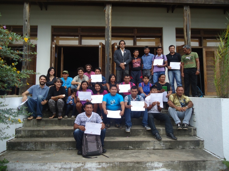 Participantes do Curso Básico de Gestão Territorial e Ambiental de Terras Indígenas do Rio Negro. Foto: SETCOM/FOIRN