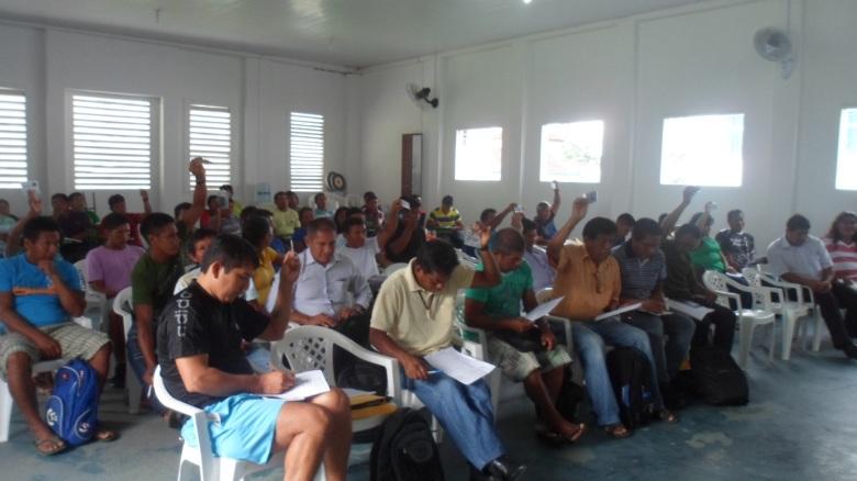 Participantes do Conselho Diretor da FOIRN, realizado em São Gabriel da Cachoeira. Foto: SETCOM/FOIRN