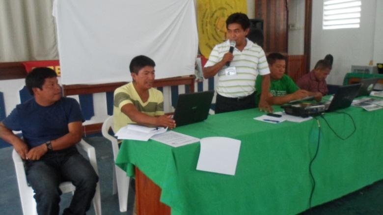 Expositores sobre economia indígenas no Rio Negro. Foto: SETCOM/FOIRN