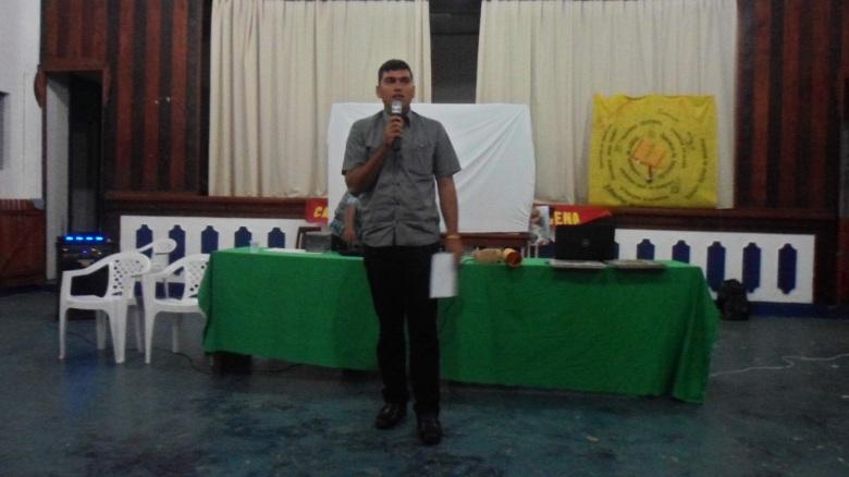 Instituições locais também foram convidados para participar da reunião. Na foto Presidente da Câmara Municipal de SGC. SETCOM/FOIRN