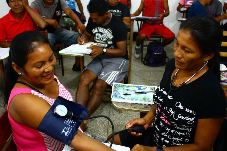 ACIS em atividade durante o curso. Foto: Ana Lucia Pontes – Coordenação do Curso/EPSJV/FIOCRUZ
