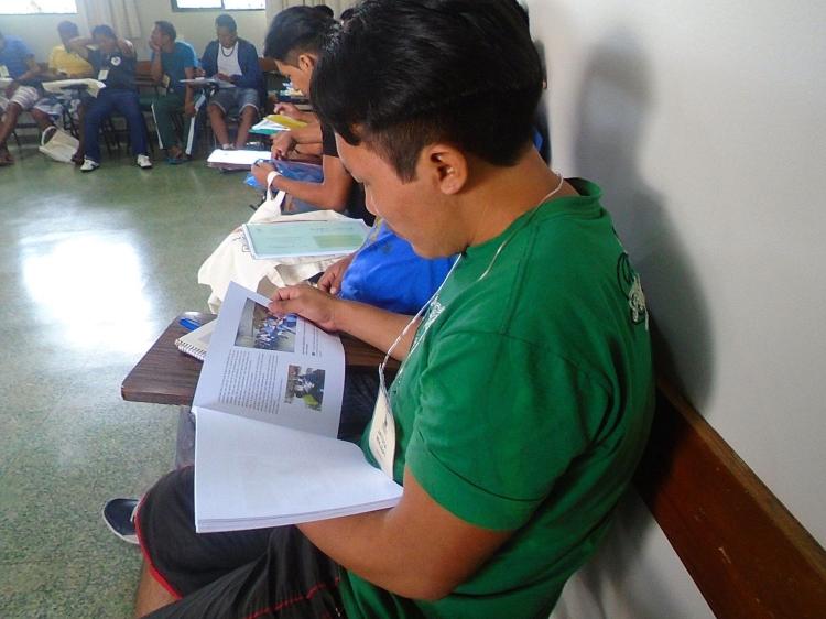 Participantes da curso em atividades. Foto: Isaias Fontes/FOIRN