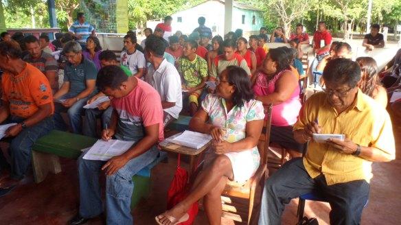 Participantes da X Assembleia da ASIBA em Cumaru, Baixo Rio Negro. Foto: SETCOM/FOIRN