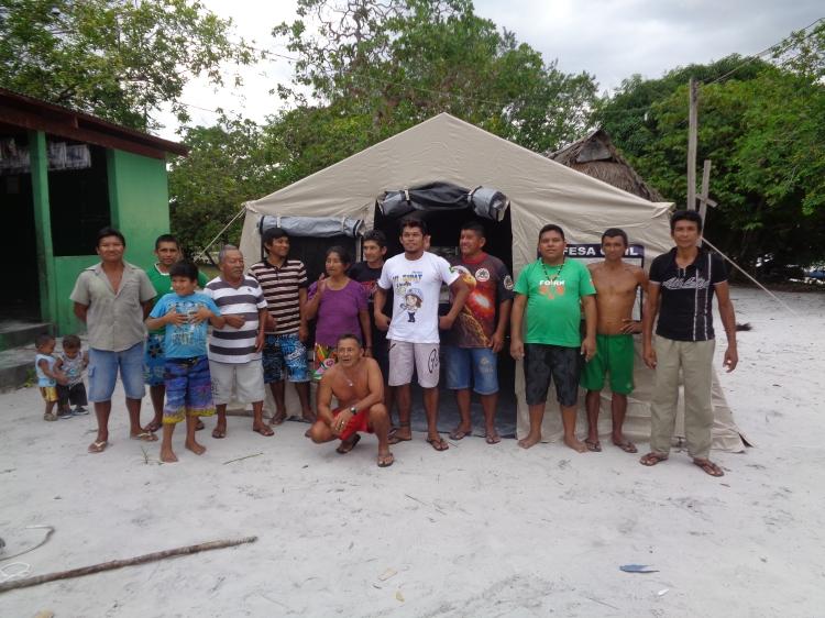 Entrega Barraca para atendimento de equipe de saúde - Campinas do Rio Preto