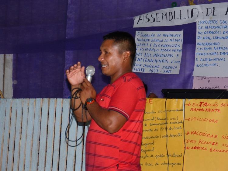 Valdeci Fontes, é o atual presidente da Unib, que busca fortalecer a associação e as comunidades. Foto: SETCOM/FOIRN