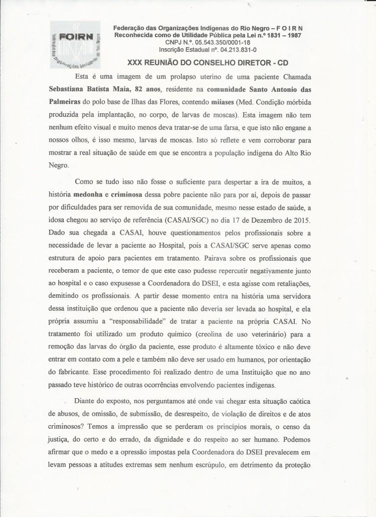 Carta Denúncia XXX CD FOIRN_Saúde Indígena -3