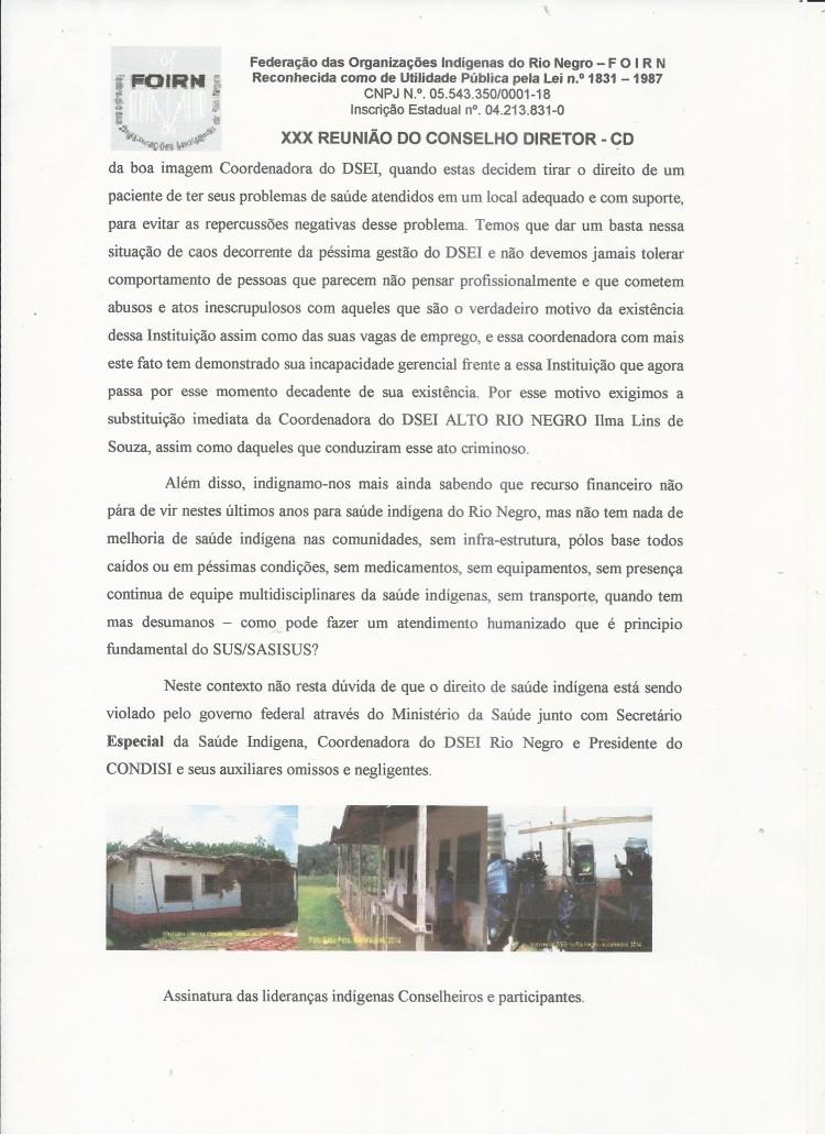 Carta Denúncia XXX CD FOIRN_Saúde Indígena -4